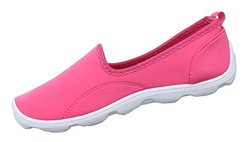 Damen Schuhe Halbschuhe Slipper Freizeitschuhe Pink