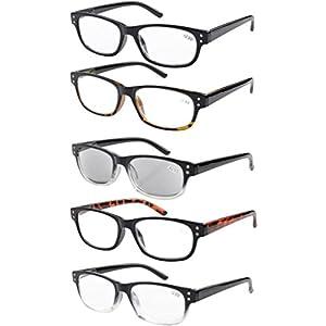Eyekepper 5-pack Spring Hinges Vintage Reading Glasses Includes Sunglasses Readers +0.75