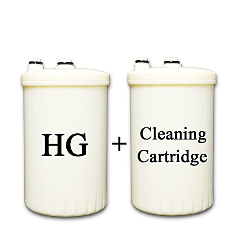 HG Type Compatible Replacement Filter for KANGEN Enagic Leveluk MW-7000HG Water Ionizer + Cleaning Cartridge (Not Compatible with HG-N Models) by IonHiTech