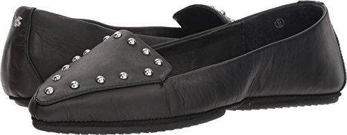 Yosi Samra Women's Vera Black/Silver Studs Nappa Leather 10 M - Black Suede Nappa Footwear