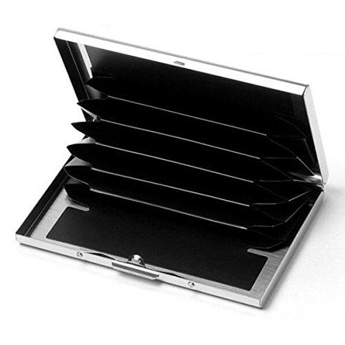 Doutop Card Aluminium Porte De Case cartes argent Brushed Crédit ZZrqA