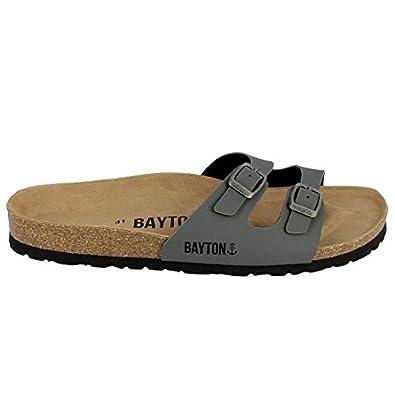 Bayton - Tongs   Sandales - Ba-10382 - Taille 45 - Argent  Amazon.fr ... d3dee1051c37