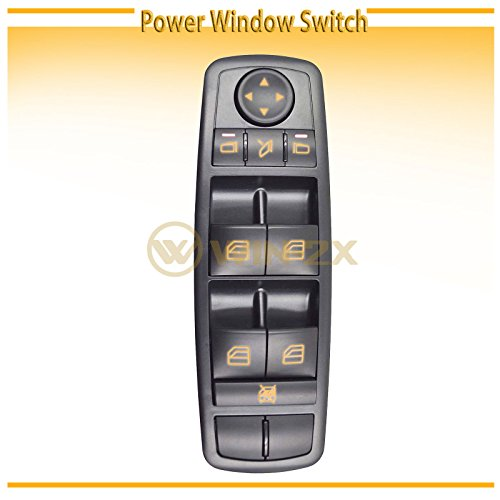 WIN-2X New 1pc Black Housing Power Window Master Control Switch Fit Mercedes-Benz 07-12 X164 GL-Class 06-13 W251 R-Class 06-11 W164 ML-Class With Power Folding Mirrors & Without Electric Hinge Windows