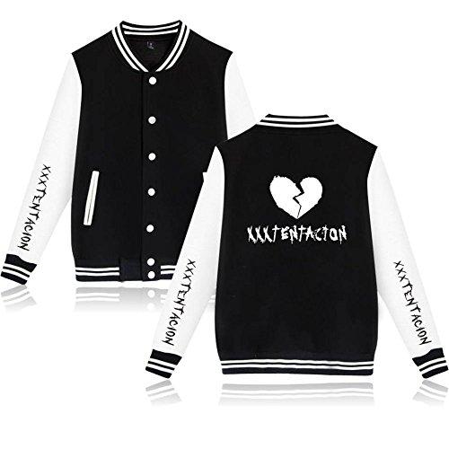 Black Felpe Xxxtentacion Sportive Fans con R P Rapper Stampa EnjoyYourLife Jacket Baseball Sweatshirt I cappuccio 3D Unisex awTqdqH