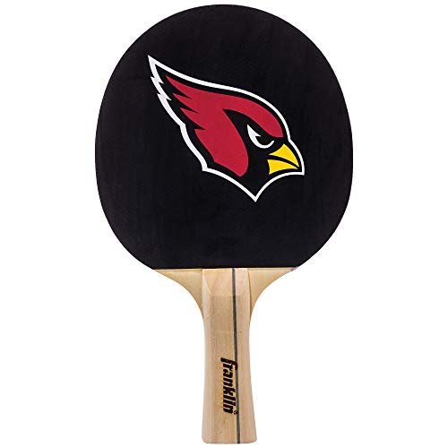 Franklin Sports Arizona Cardinals Team Table Tennis Paddle - Wood Paddle Pips In Rubber Surface with Team Logo - NFL Official Licensed Product ()