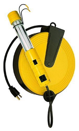 Bayco SL-825 13-Watt Fluorescent Work Light with 40-Feet Cord Reel