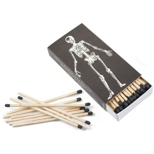 (HomArt Infirmerie General Skeleton Large Decorative Matches Set of 3 matchboxes)