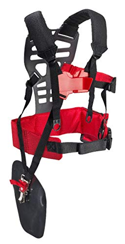 RA Double Shoulder Strap Pro with Waist Pad and Safety Quick Release Trimmer Brushcutter Shoulders Harness for Echo, Stihl, Tanaka, Shindaiwa