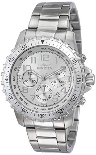 (Invicta Men's 6620 II Collection Chronograph Stainless Steel Silver Dial Watch)