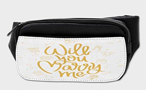 Lunarable You and Me Bumbag, Wedding Proposal, Fanny Pack Hip Waist Bag by Lunarable