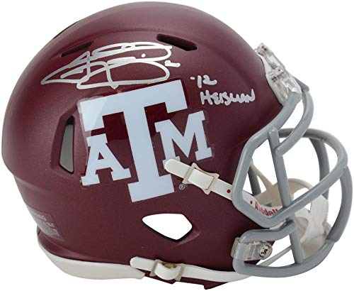 Autographed Signed Mini Helmet - Johnny Manziel Texas A&M Aggies Autographed Riddell Mini Helmet with