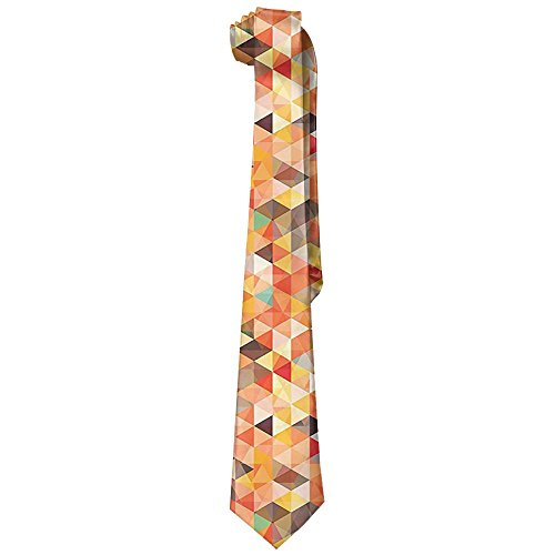 (Jidfnjg Abstract Triangle And Diamond Trippy Funky Motif Vibrant Artistic Man's Polyester Silk Tie/tie/tie.)