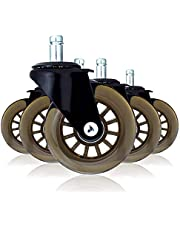 """ZBRANDS // Office Chair Caster Replacement Wheels (Set of 5) - 3"""" Heavy Duty Wheels & Scratch-Free Floors, Including Hardwood - Replacement for Aeron, Leap, Embody, and Others!"""