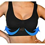 LLywey Womens Plus Size Air Permeable Cooling Summer Sport Wireless Bra Gym Activewear for Yoga Gym Workout Fitness (XXXL, Black)