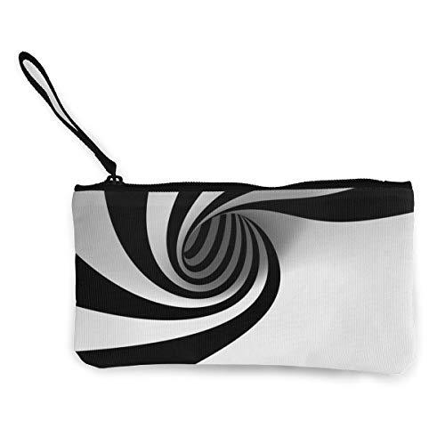 - Canvas Cash Coin Purse,Zebra Stripe Print Make Up Bag Zipper Small Purse Wallets