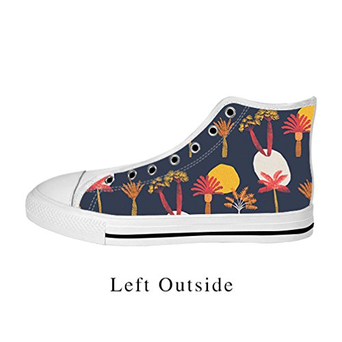 JIUDUIDODO Fashion Women's Casual Cool Christmas Gifts Tree of life Canvas Lace Up High top Shoes Sneakers (Pumpkin Patterns Printable)