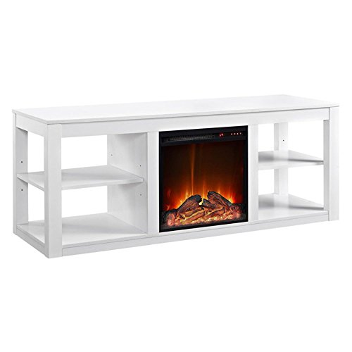 Altra Furniture Parsons Console Fireplace for TVs up to 65″