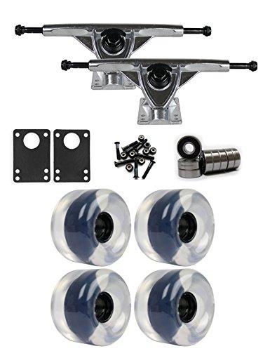 支払う処方小切手RKP Raw Longboard Trucksホイールパッケージ65 mm x 44 mm 83 aクリア