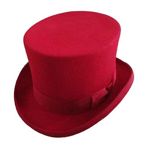 Elong Unisex 100% Wool Felt Magic Top Hats Satin Lined 5