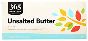 365 by Whole Foods Market, Butter, Unsalted (4 Quarters), 16 Ounce