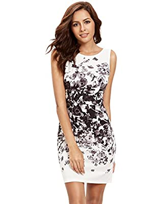 Floerns Women's Floral Bodycon Cocktail Party Summer Dresses