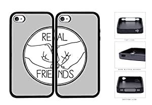 Real Friends Fist Pound Best Friends Set Rubber Silicone TPU Cell Phone Case Apple iPhone 4 4s