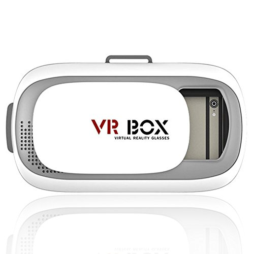 "High Def 3D VR BOX with Adjustable Head Mount Strap for 3.5""-6.0"" Smartphones"