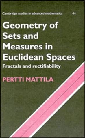 Geometry of Sets and Measures in Euclidean Spaces: Fractals and Rectifiability (Cambridge Studies in Advanced Mathematics)