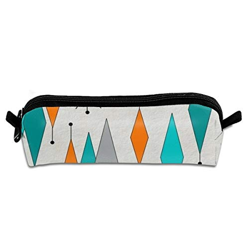Mid Century Modern Diamond Pattern Pencil Case Pen Bag Pouch Stationary Case Makeup Cosmetic Bag ()