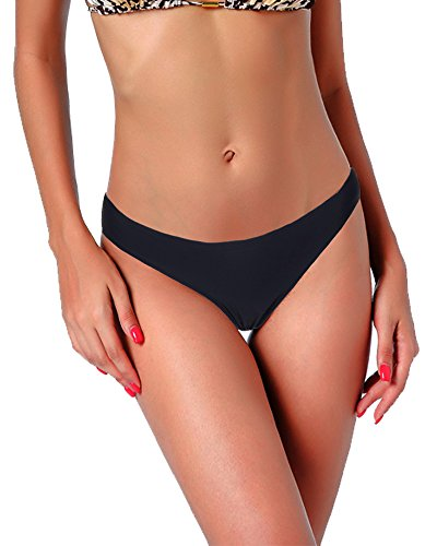 Halter Striped Thongs - 3-5 Days Delivery Sexy Lady Brazilian V-Style Ruched Ruffle Cheeky Bikini Bottom Thong