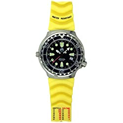 Tauchmeister men`s diver watch Swiss GMT movement sapphire glass T0299Y