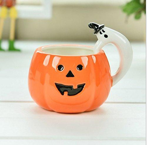 Moyishi Cool Pumpkin Cup Coffee Milk Ceramic Mug Cup Decoration Christmas Birthday Halloween Best Gift