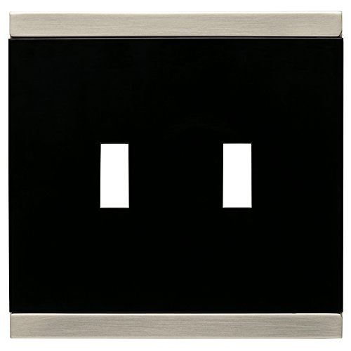 - Franklin Brass 135755 Basic Stripe Double Toggle Switch Wall Plate / Switch Plate / Cover