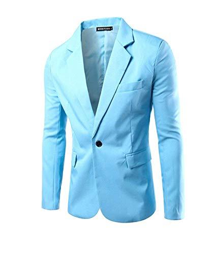 Pour Veste Business Fit Hellblau Button One Loisirs Élégant Moderne Manches Hommes À Blazer Slim Longues Suit Décontracté qdBqCH