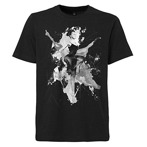 Ballett_II schwarzes modernes Herren T-Shirt mit stylischen Aufdruck