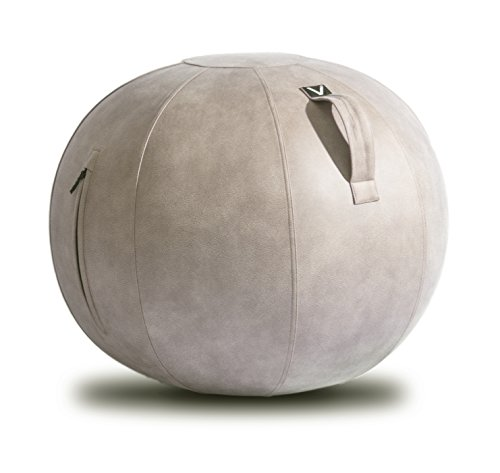 Vivora Luno - Sitting Ball Chair for Office and Home, Lightweight Self-Standing Ergonomic Posture Activating Exercise Ball Solution with Handle & Cover, Classroom & Yoga ()