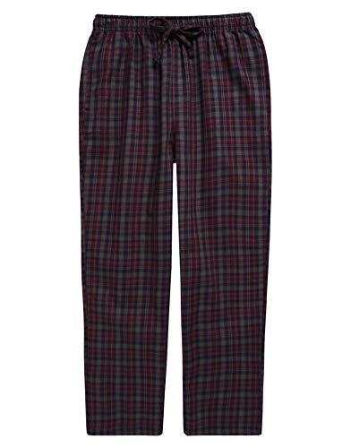 TINFL Boys Plaid Check Soft 100% Cotton Lounge Pants BLP02-01-Grey-L