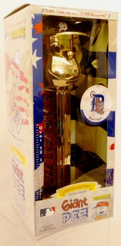 (Gold Plated Charlie Brown Detroit Tigers - Limited Edition Giant Pez Dispenser)