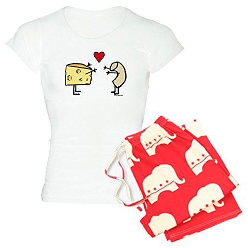CafePress Macaroni and Cheese Love - Womens Novelty Cotton Pajama Set, Comfortable PJ Sleepwear -  1110309724A4431