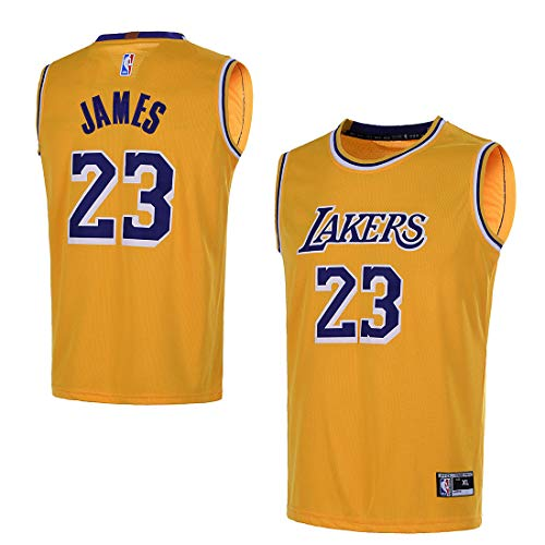 Outerstuff Youth 8-20 Los Angeles Lakers #23 LeBron James Kids Jersey (Youth Medium 10/12, Yellow) (Lakers Jersey Shirt La)