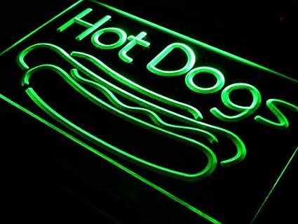 ADVPRO Cartel Luminoso i519-g Hot Dog Dogs Cafe Lounge Lure ...