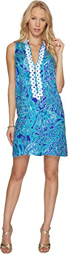 Lilly Pulitzer Women's Jane Shift Capri Teal Pop Up Tortuga Time - Pulitzer Shift Lilly