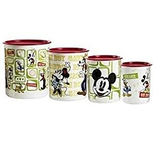 Tupperware Disney Mickey Mouse Vintage 4pc Canister Set