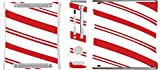Christmas Red Candy Cane Xbox 360 Vinyl Decal Sticker Skin by Moonlight Printing