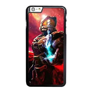 Grouden R Create and Design Phone Case, Halo 5 Master Chief Cell Phone Case for iPhone 6 6S plus 5.5 inch Black + Tempered Glass Screen Protector (Free) LPC-0658731
