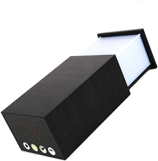 IFor Lámpara de Mesa Lámpara de Madera con Bluetooth Mini Altavoz ...