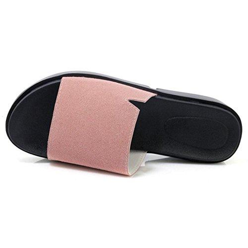 Mules Pink TAOFFEN Ete Femmes Plateau wawxnt4qF