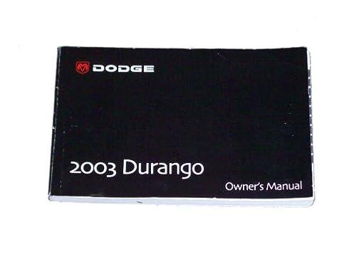 2003 dodge durango owner s manual amazon com books rh amazon com dodge durango owners manual 2003 2005 Dodge Durango