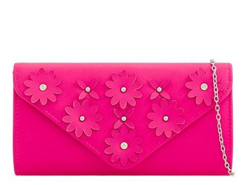 Haute Bag Fuchsia Ladies For Haute For Diva Lemon Floral Clutch HU5qS