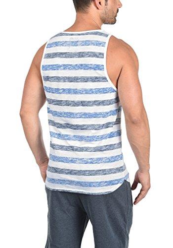 Blue Tank Camiseta solid Cuello 1531 Tanque Mende Con Redondo Top De Básica Strong Tirantes 6gYYTn7qp